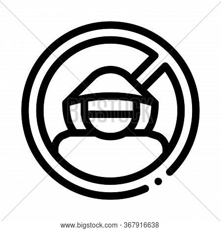 Criminal Cracker Icon Vector. Criminal Cracker Sign. Isolated Contour Symbol Illustration