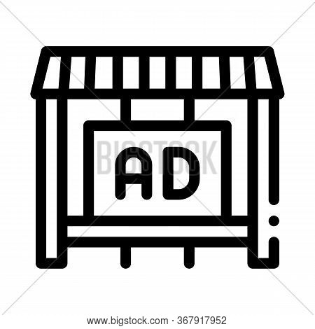Advertising In Counter Store Icon Vector. Advertising In Counter Store Sign. Isolated Contour Symbol