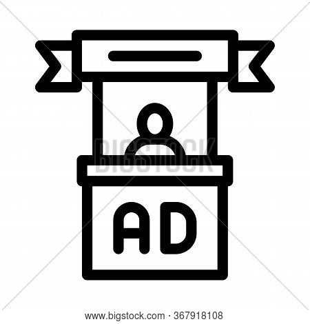 Advertising Reception Center Icon Vector. Advertising Reception Center Sign. Isolated Contour Symbol