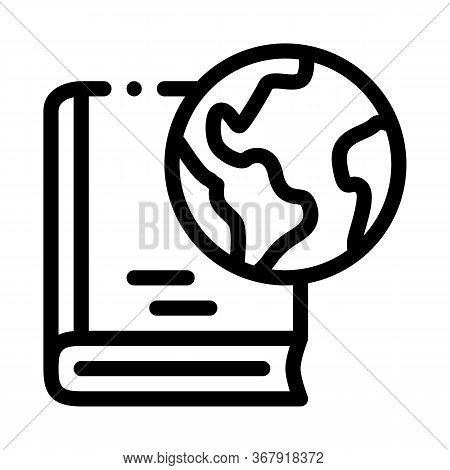 History Of Geography Science Icon Vector. History Of Geography Science Sign. Isolated Contour Symbol