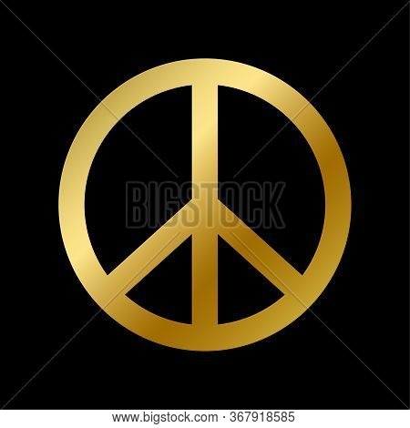 Peace Symbol Isolated Pacifism And Hippie Sign