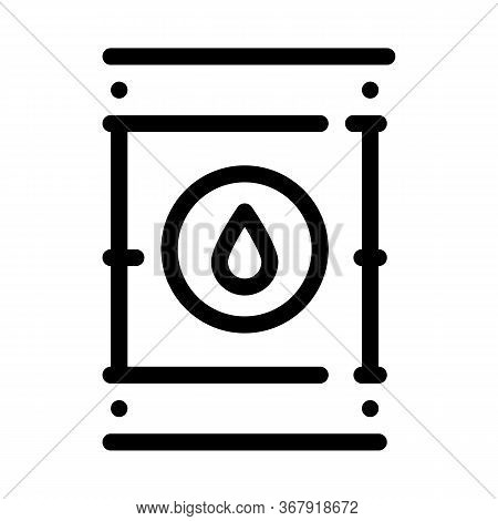 Tightly Closed Gas Barrel Icon Vector. Tightly Closed Gas Barrel Sign. Isolated Contour Symbol Illus