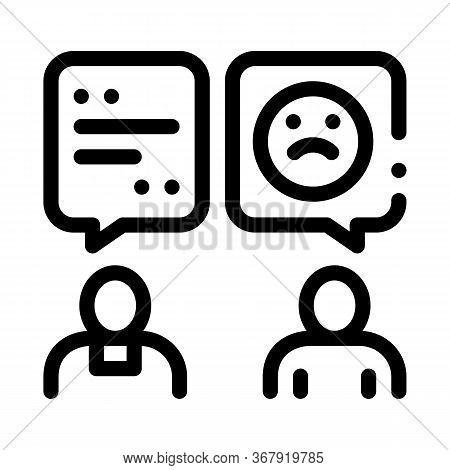 Confession To Priest Icon Vector. Confession To Priest Sign. Isolated Contour Symbol Illustration