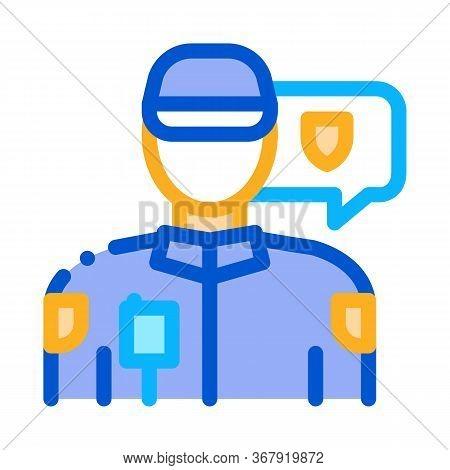 Police Officer Icon Vector. Police Officer Sign. Color Symbol Illustration