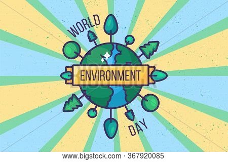 World Environment Day Poster Background Or Card