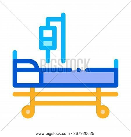 Medical Mobile Wheelchair Icon Vector. Medical Mobile Wheelchair Sign. Color Symbol Illustration