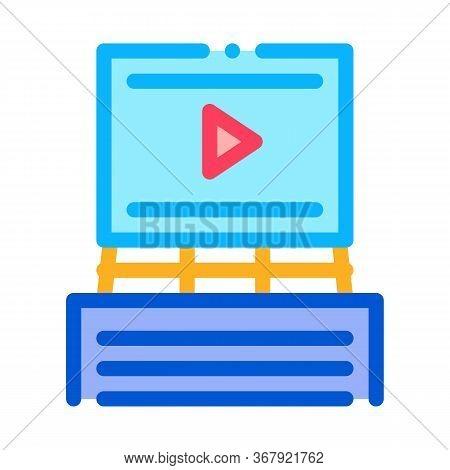 Advertisement Announcement Icon Vector. Advertisement Announcement Sign. Color Symbol Illustration
