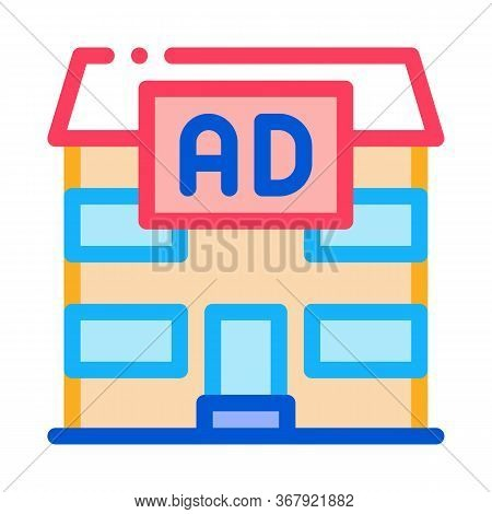 Residential Ad Icon Vector. Residential Ad Sign. Color Symbol Illustration