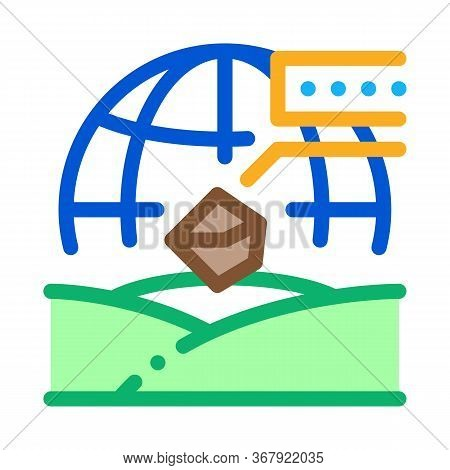 Soil Geography Icon Vector. Soil Geography Sign. Color Symbol Illustration