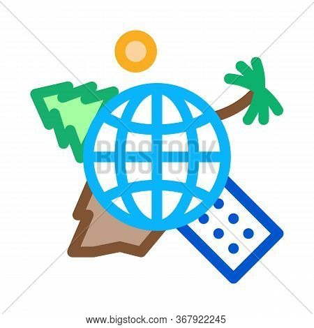 Human Geography Science Icon Vector. Human Geography Science Sign. Color Symbol Illustration