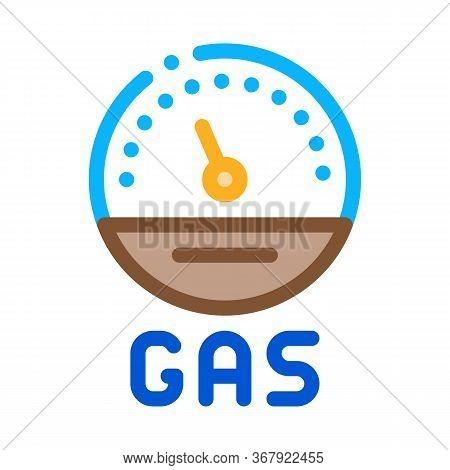 Engine Gas Indicator Icon Vector. Engine Gas Indicator Sign. Color Symbol Illustration