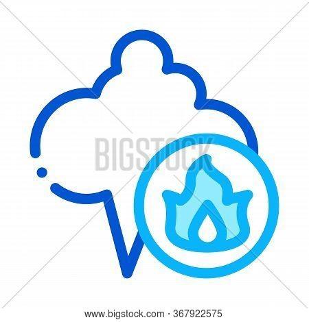 Liquefied Gas Comes Into Cloud Icon Vector. Liquefied Gas Comes Into Cloud Sign. Color Symbol Illust