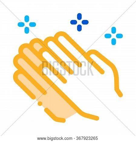 Praying Hands Icon Vector. Praying Hands Sign. Color Symbol Illustration