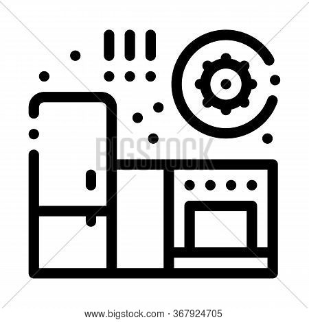 Harmful Bacteria In Kitchen Icon Vector. Harmful Bacteria In Kitchen Sign. Isolated Contour Symbol I