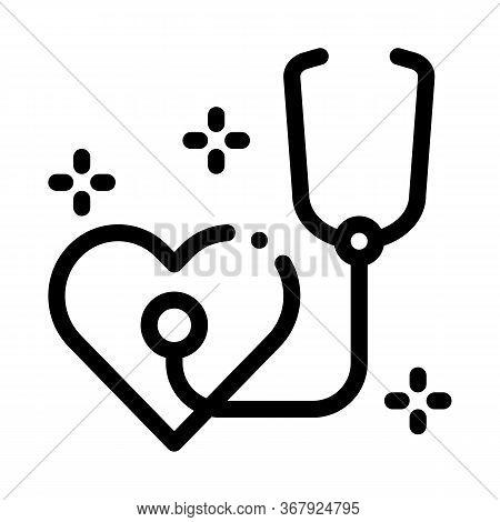 Heart Beat Measurements Icon Vector. Heart Beat Measurements Sign. Isolated Contour Symbol Illustrat