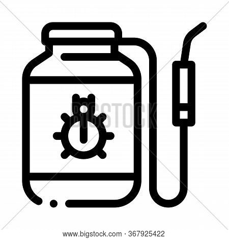 Portable Poison Tank For Beetles Icon Vector. Portable Poison Tank For Beetles Sign. Isolated Contou