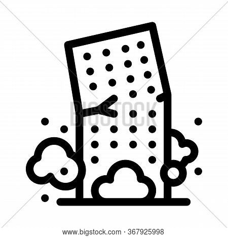 High-rise Building Collapse Icon Vector. High-rise Building Collapse Sign. Isolated Contour Symbol I
