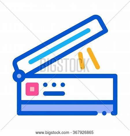 Scanner For Work Icon Vector. Scanner For Work Sign. Color Symbol Illustration