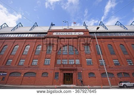 Glasgow, Scotland - July 18, 2019: Outside View Of The Ibraox Park Pictured Prior To The 2nd Leg Of
