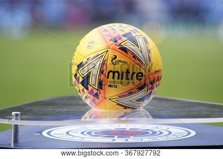 Glasgow, Scotland - July 18, 2019: The Official Scottish Premiership Ball Pictured Prior To The 2nd