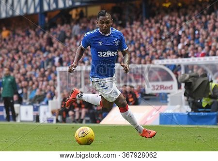 Glasgow, Scotland - July 18, 2019: Alfredo Morelos Of Rangers Pictured During The 2nd Leg Of The 201