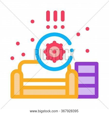 Identification Of Sanitary Problems In Living Room Icon Vector. Identification Of Sanitary Problems