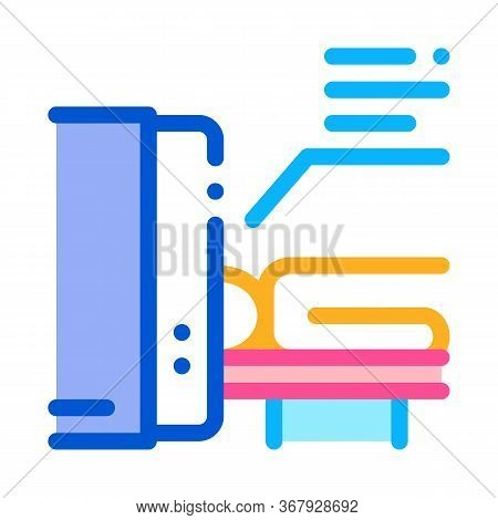 Human Body Scan X-ray Icon Vector. Human Body Scan X-ray Sign. Color Symbol Illustration