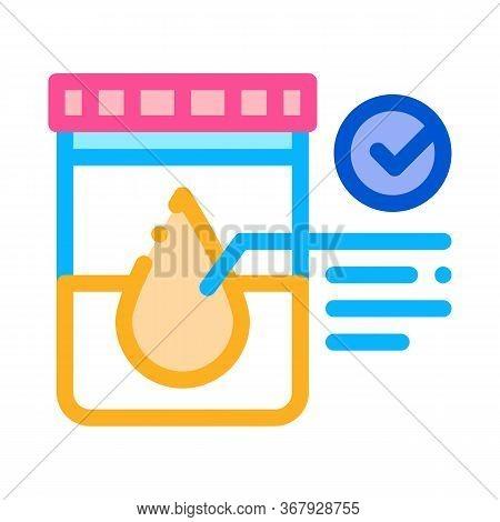 Regular Urine Test In Vitro Icon Vector. Regular Urine Test In Vitro Sign. Color Symbol Illustration