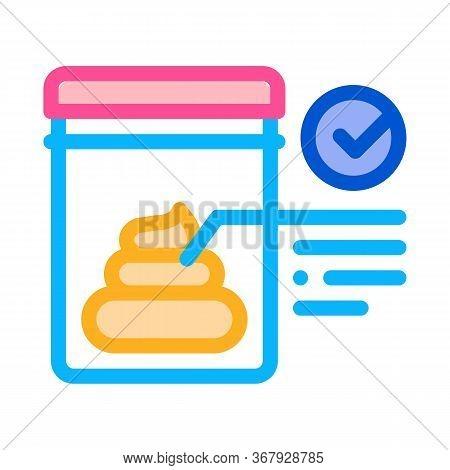 Feces In Vitro Test Icon Vector. Feces In Vitro Test Sign. Color Symbol Illustration