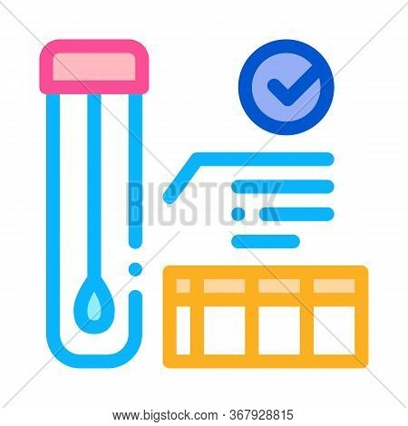 Affirmative Test Tube Material Results Icon Vector. Affirmative Test Tube Material Results Sign. Col