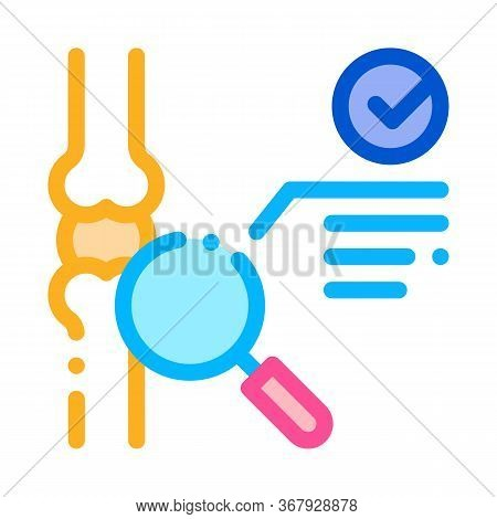 Bone Joint Test Icon Vector. Bone Joint Test Sign. Color Symbol Illustration