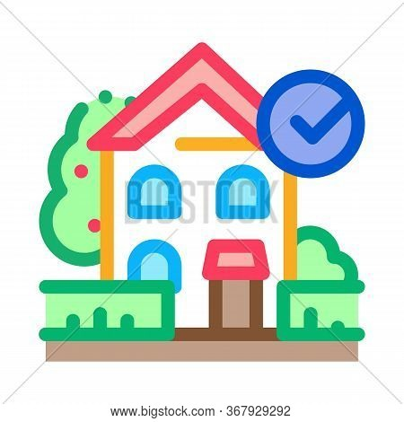 Ecologically Clean Territory Icon Vector. Ecologically Clean Territory Sign. Color Symbol Illustrati
