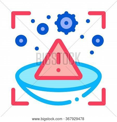 Medically Unsafe Lens Icon Vector. Medically Unsafe Lens Sign. Color Symbol Illustration