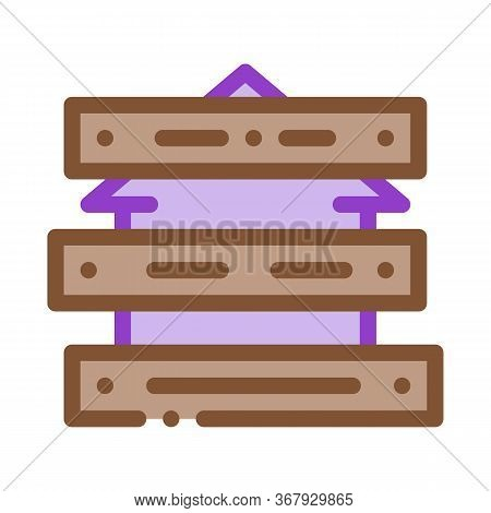 Territory Of House Impassable For People Icon Vector. Territory Of House Impassable For People Sign.