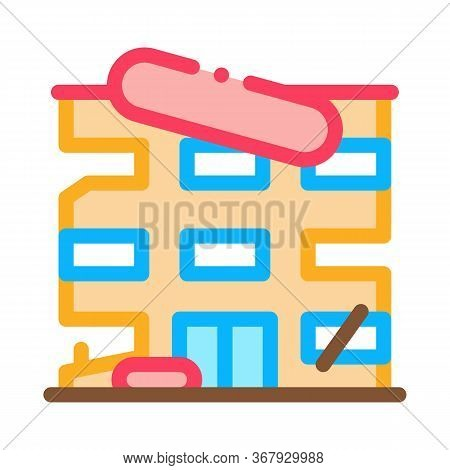 High-rise Restoration Icon Vector. High-rise Restoration Sign. Color Symbol Illustration