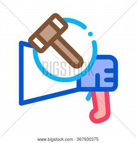 Public Bargaining Icon Vector. Public Bargaining Sign. Color Symbol Illustration