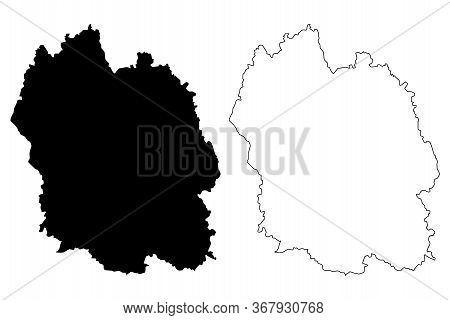 Lozere Department (france, French Republic, Occitanie Or Occitania Region) Map Vector Illustration,