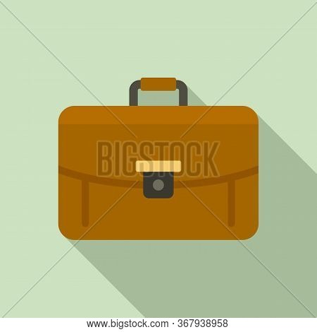 Business Leather Bag Icon. Flat Illustration Of Business Leather Bag Vector Icon For Web Design