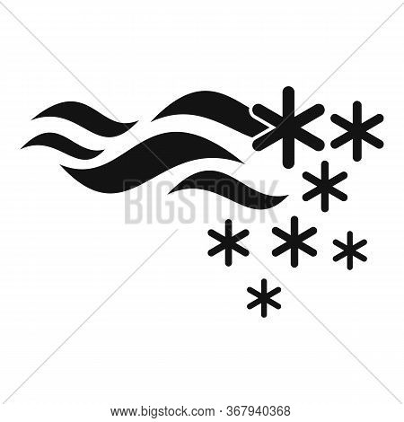 Storm Blizzard Icon. Simple Illustration Of Storm Blizzard Vector Icon For Web Design Isolated On Wh
