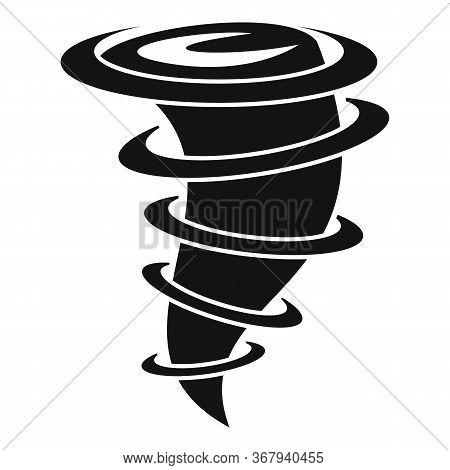 Tornado Blizzard Icon. Simple Illustration Of Tornado Blizzard Vector Icon For Web Design Isolated O