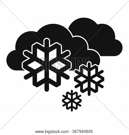 Cold Blizzard Icon. Simple Illustration Of Cold Blizzard Vector Icon For Web Design Isolated On Whit