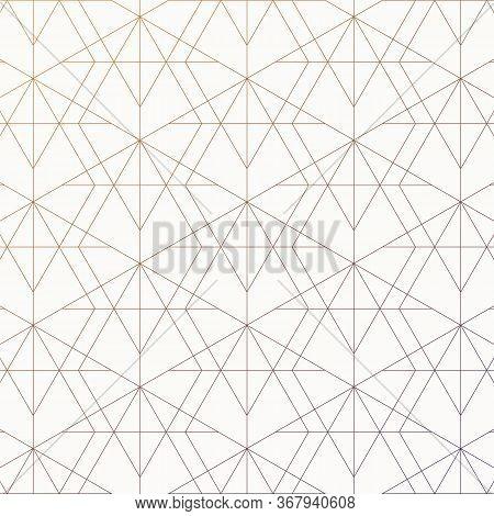 Vector Art Deco Geometric Texture. Elegant Seamless Pattern With Diamonds, Rhombuses, Thin Lines. Tr