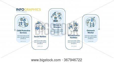 People Support Service Vector Infographic Template. Rehabilitation Presentation Design Elements. Dat