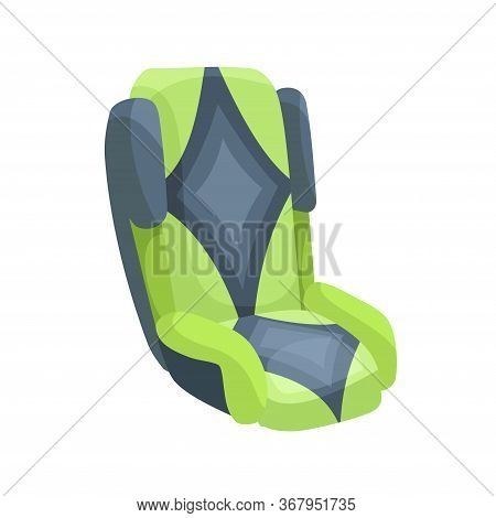 Baby Car Seat Cartoon Flat Style. Safety Baby Seat Vector Illustration Isolated On A White Backgroun