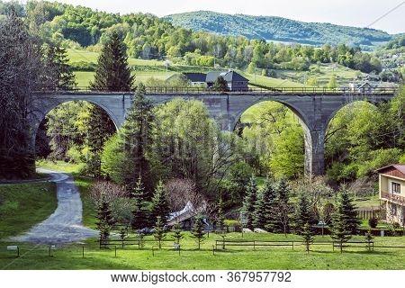 Beliansky Viaduct, Banska Bela, Slovak Republic. Travel Destination. Technical Monument.