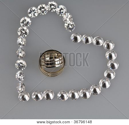 Wedding Rings And Stones