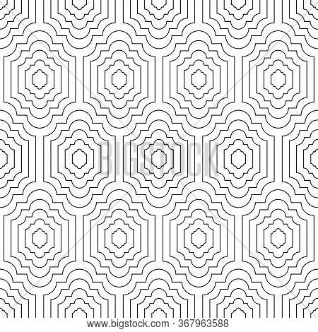 Seamless Geometric Pattern. Elegant Black And White Print For Textiles. Print For Textile, Home Deco