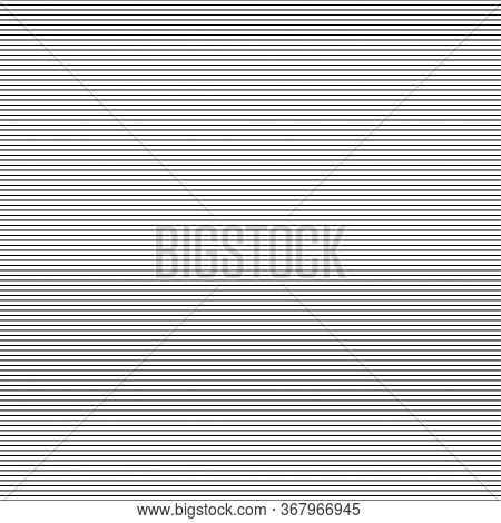 Line Horizontal Seamless Pattern. Vector Isolated Background Linear Seamless Texture. Striped Repeat