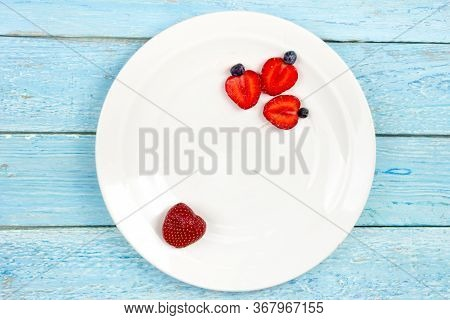 Fresh Ripe Berry In Closeup On Isolated White Background. Berries