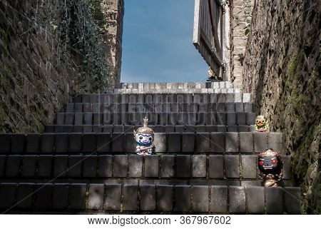 Ravana, Giantess And Hanuman Happy Traveller Visiting In England. Traveller Doll.